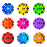 Gambling casino poker chips Stock Photo