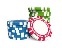 Gambling chip Royalty Free Stock Photo