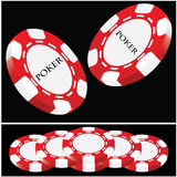 Gambling chip. For poker and casino vector illustration