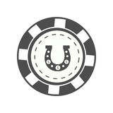 Gambling chip Vector Illustration Royalty Free Stock Images