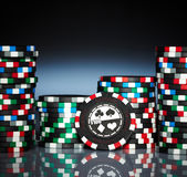 Gambling chips stock images