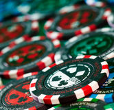 Gambling chips Royalty Free Stock Photos