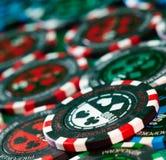 Gambling chips royalty free stock photos
