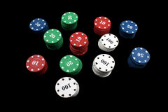 Gambling Chips Royalty Free Stock Photography