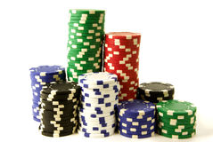 Gambling chips Stock Photo