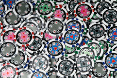 Gambling chips. Abstract background of gambling chips Royalty Free Stock Image