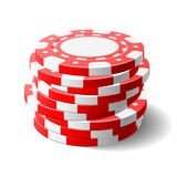 Gambling chips. Vector illustration of gambling chips Stock Photos