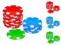 Gambling chips. Royalty Free Stock Image