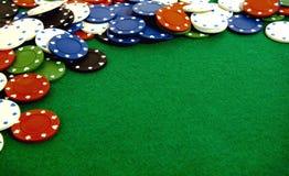 Gambling chips stock image