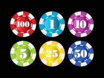 Gambling chips Royalty Free Stock Photo
