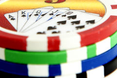 Gambling chips Royalty Free Stock Image