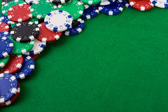 Gambling chips Stock Photos