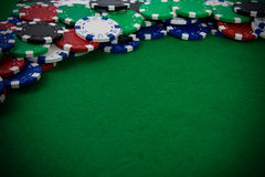 Gambling chips Royalty Free Stock Images