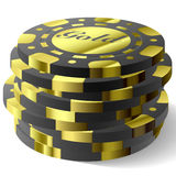 Gambling chips. Vector illustration of gambling chips Royalty Free Stock Photo