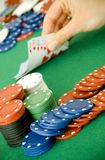 Gambling chips and cards Royalty Free Stock Photos