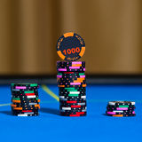 Gambling chips on casino table Stock Photography