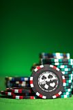 Gambling chips with copy space Royalty Free Stock Photo