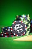 Gambling chips with copy space Royalty Free Stock Photography
