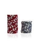 Gambling chips over white Stock Image