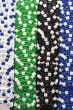 Gambling Chips In A Row Stock Photo