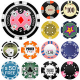 Gambling chips vector 2 Royalty Free Stock Photos