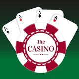 Gambling Chips vector isolated casino background / wallpaper / backdrop. Stock Images