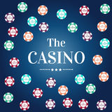 Gambling Chips vector isolated casino background / wallpaper / backdrop. Royalty Free Stock Photo