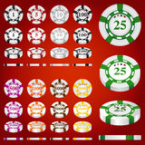 Gambling chips vector set Stock Photography