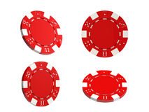Gambling chips on white background Royalty Free Stock Photos