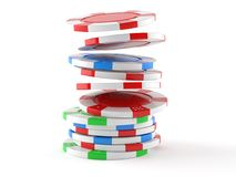 Gambling chips. On white background royalty free illustration