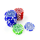 Gambling clips Royalty Free Stock Photos
