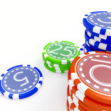 Gambling clips Royalty Free Stock Images
