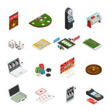 Gambling Colored Isometric Icons Royalty Free Stock Photography