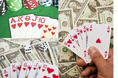 Gambling concept collection Stock Image