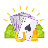 Gambling Concept Vector Flat style Illustration. Royalty Free Stock Photos