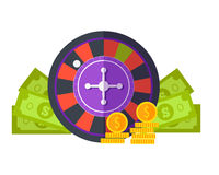 Gambling Concept Vector Illustration Flat Design. Royalty Free Stock Images