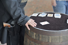 Gambling with the cowboy Stock Images