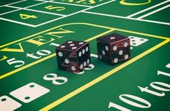 Gambling, craps game Stock Photos