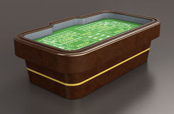 Gambling, craps game. Craps table on dark background (3d render Stock Images