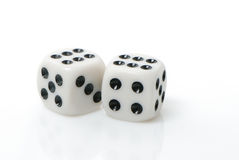Gambling cubes Royalty Free Stock Images