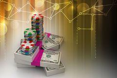 Gambling. 3d Gambling in color background Royalty Free Stock Images