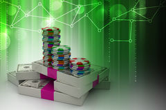 Gambling. 3d Gambling in color background Royalty Free Stock Photo