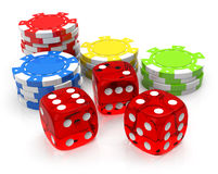Gambling. 3d generated picture of gambling elements vector illustration