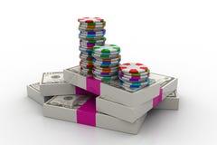 Gambling. 3d Gambling in white background Stock Image