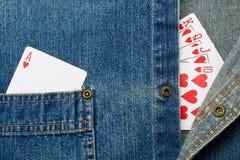 Gambling and Denim Stock Photo