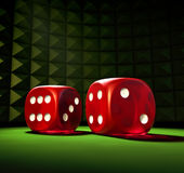 Gambling Dice Stock Photography