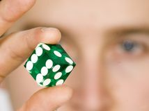 Gambling dice Stock Photos