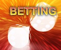 Gambling dice betting background Stock Images