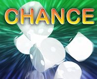 Gambling dice chance background Stock Images