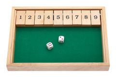 Gambling with dice and clipping path Royalty Free Stock Photos
